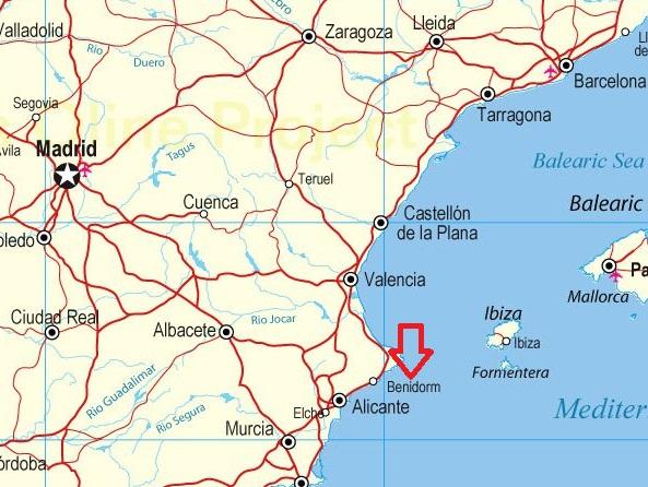Details maps of Benidorm in Spain