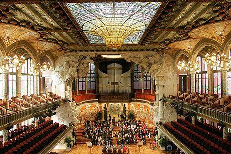 The palau de la m sica catalana in barcelona spain - Casas de musica en barcelona ...