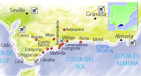 COSTA DEL SOL holidays Travel guide holidays to Costa del Sol