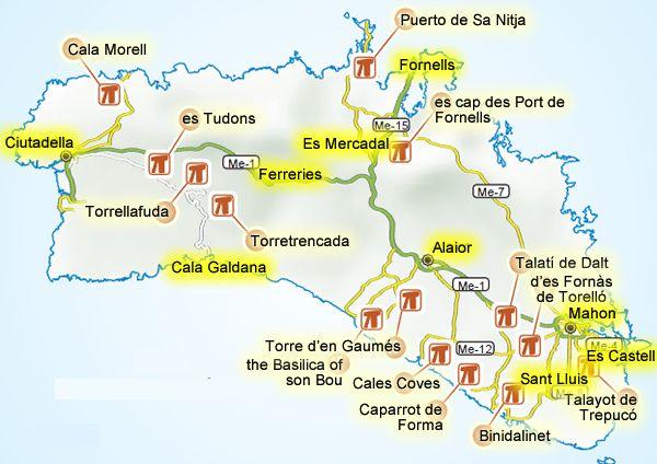 Menorca Car Hire Tourist Attractions Menorca Travel Guide Visit